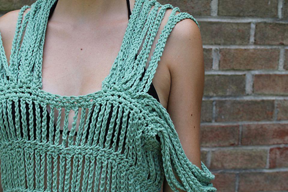 Crochet Chain Dress Free Pattern