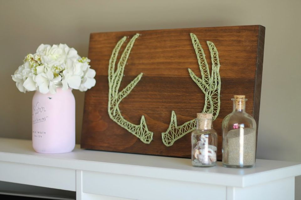 DIY Boho Antler String Art