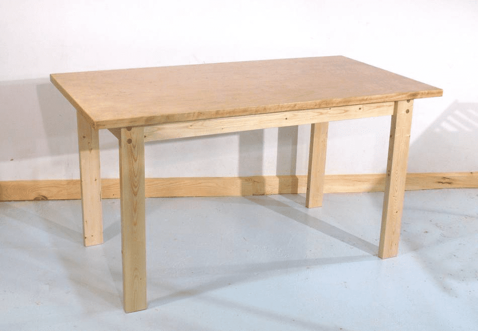 An Unstained Wooden Table