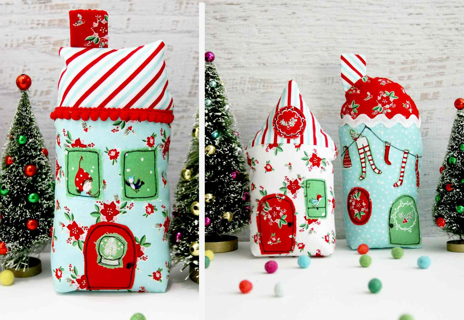 diy holiday village - Free Christmas Decorations