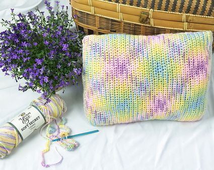 Planned Pooling Crochet Pillow