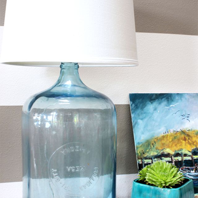 diy lamp from glass bottle