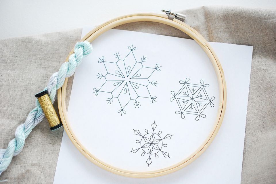 Snowflakes Embroidery Pattern
