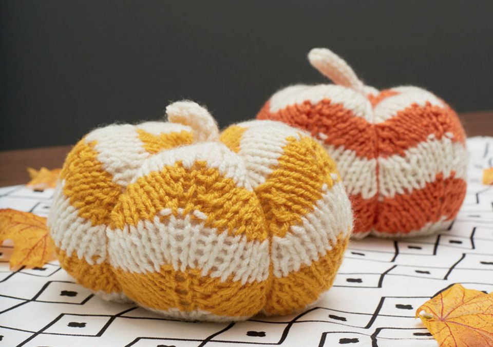 Spicy Knit Pumpkins Pattern