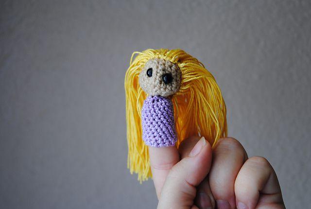 Rapunzel Crochet Finger Puppet