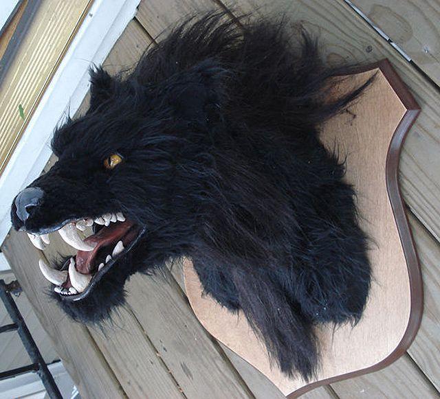 DIY Werewolf Head Decor