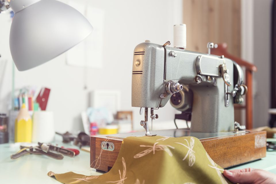 Workshop with sewing machine