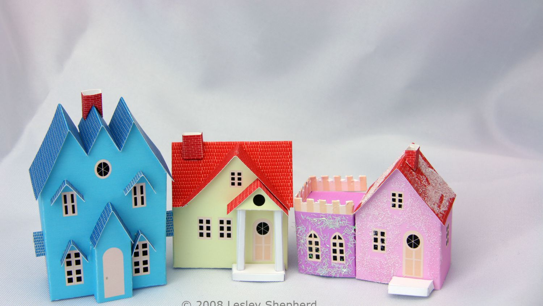Free Printable Putz Or Glitter Christmas Houses