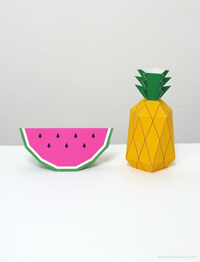DIY Paper Pineapple Toy