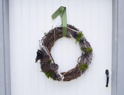 Wreath on door