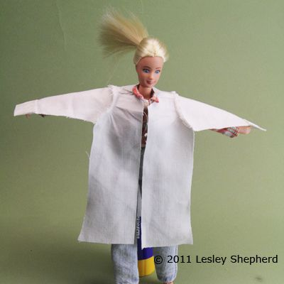 Test Fit The Lab Coat On Your Doll