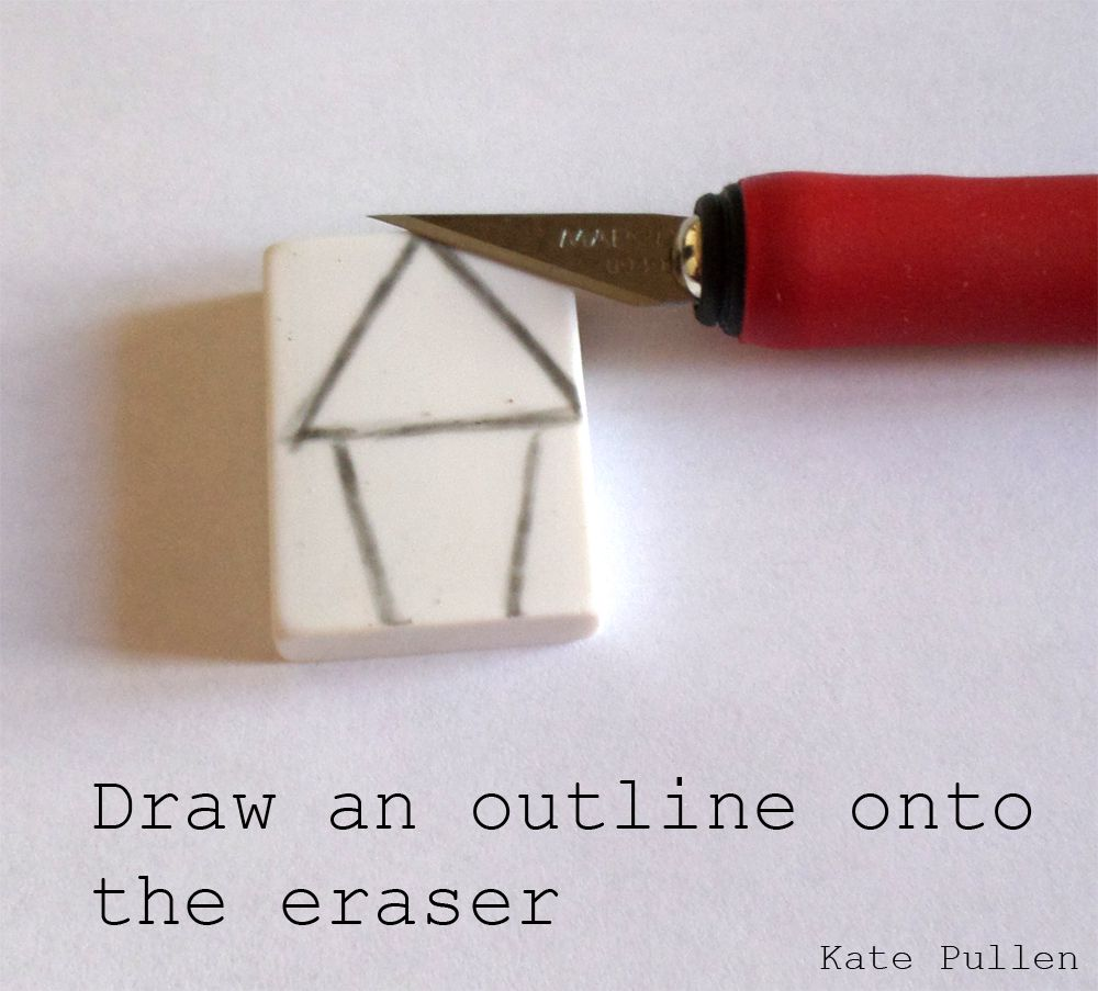 Drawing an outline onto an eraser