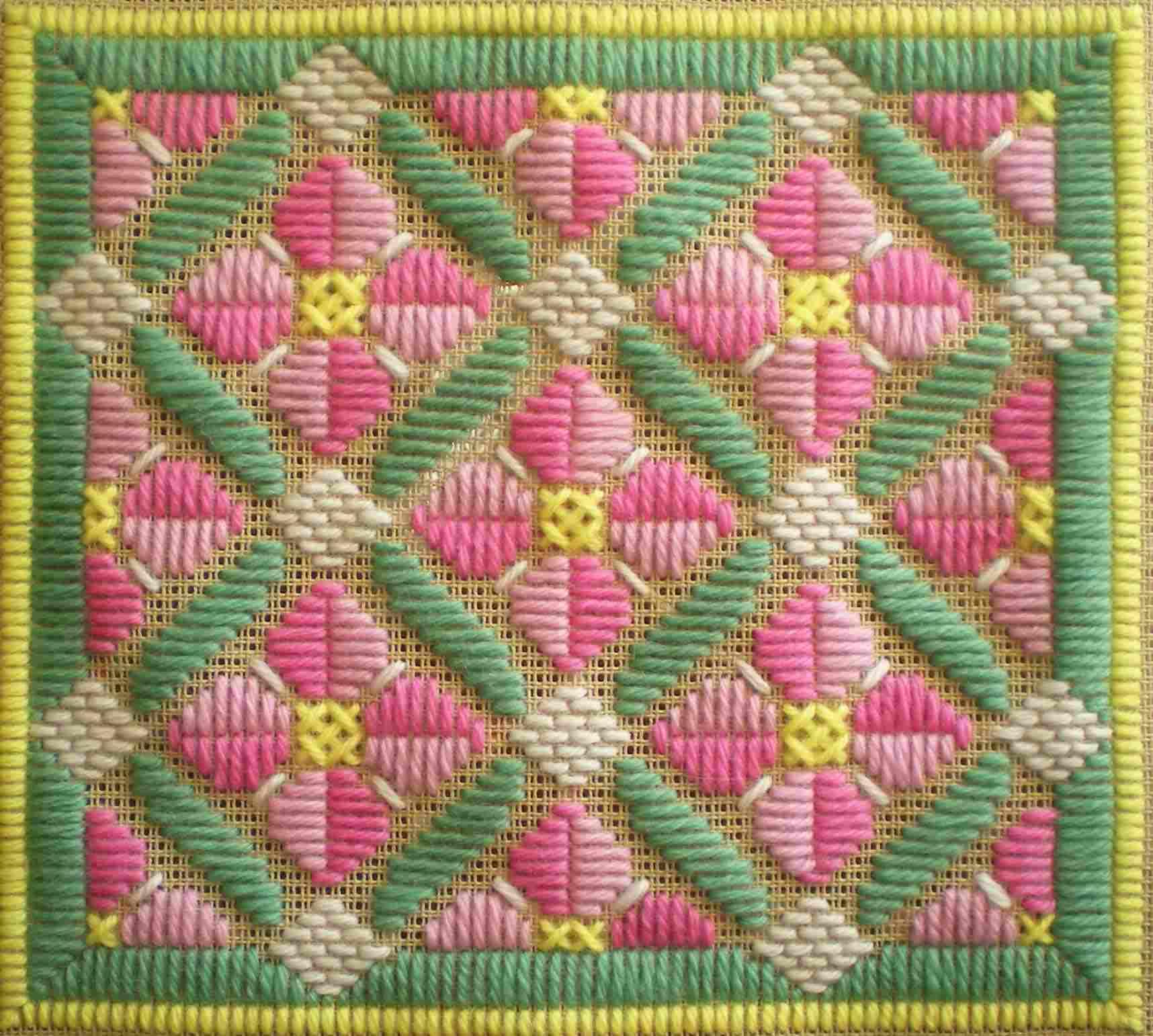 Rose Romance Long Stitch Project
