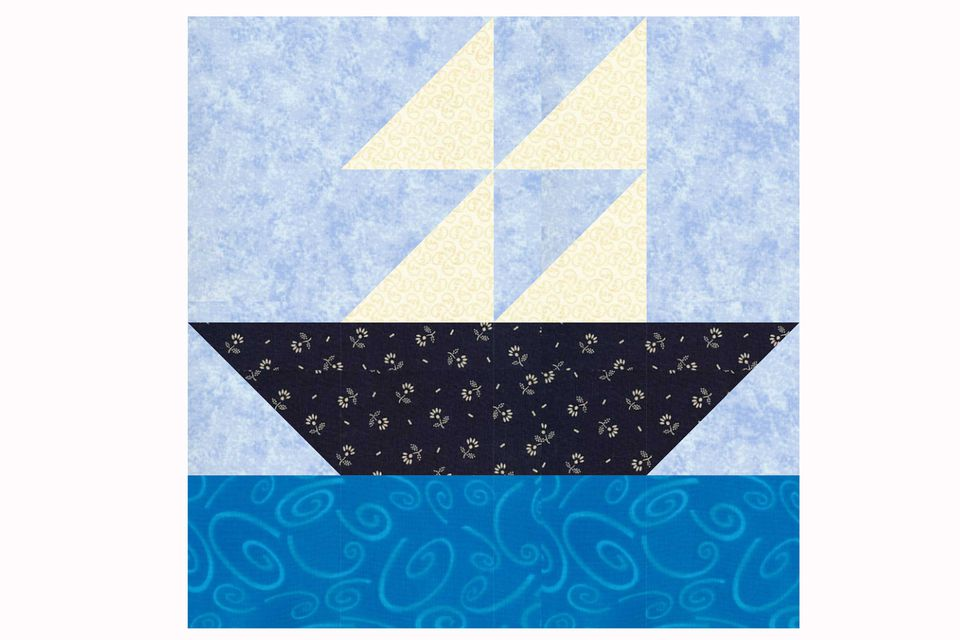 Sailboat Quilt Block Pattern