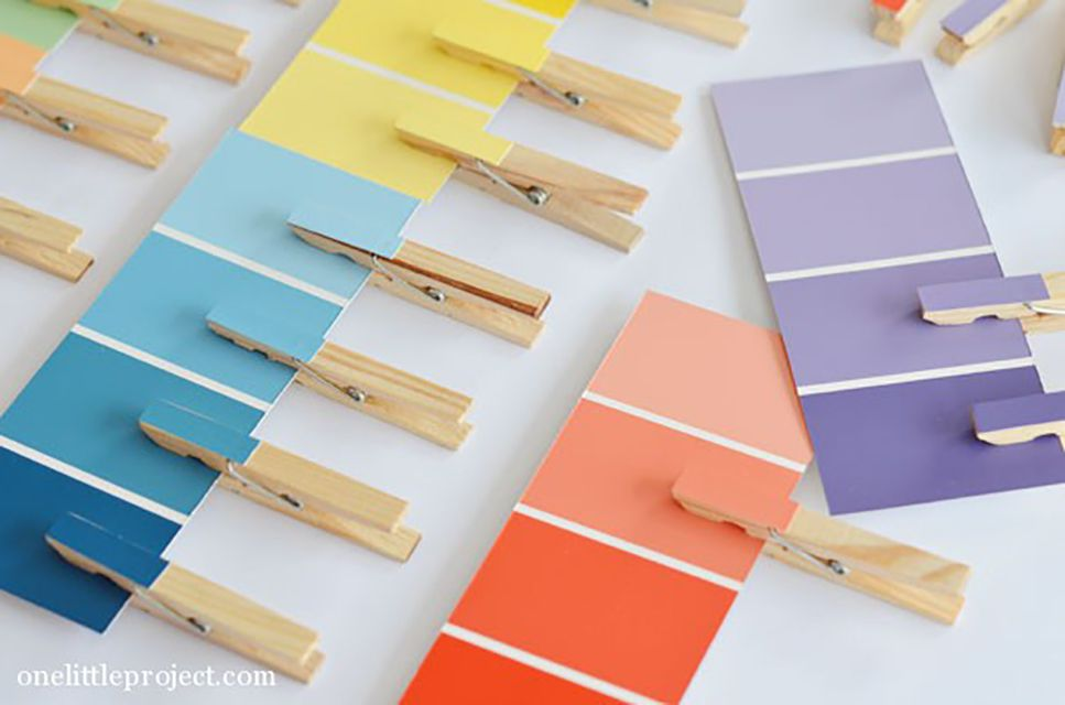 paint chip color matching game