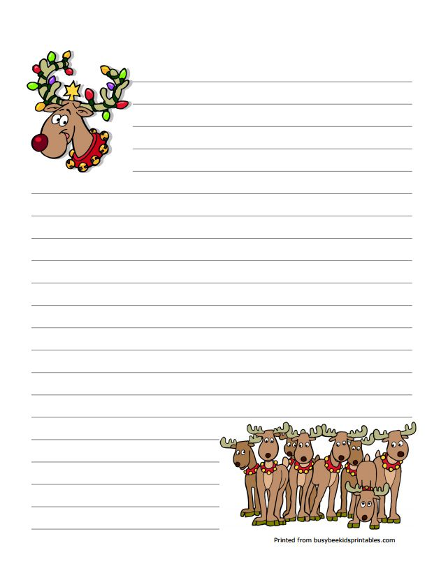 8 sets of free christmas stationery and letterheads