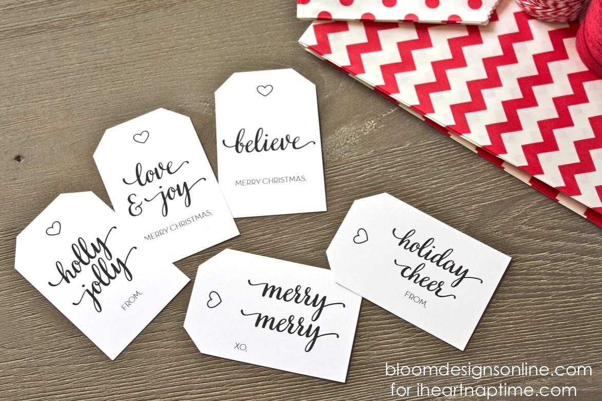 Christmas Gift Tags Ideas.40 Sets Of Free Printable Christmas Gift Tags