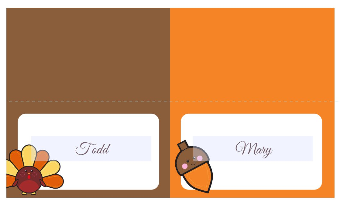 thanksgiving place cards or food labels - Thanksgiving Place Cards