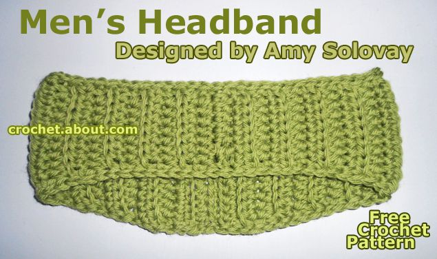A Crocheted Headband for Guys