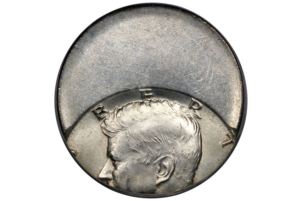 Kennedy Half-Dollar Struck Off-Center
