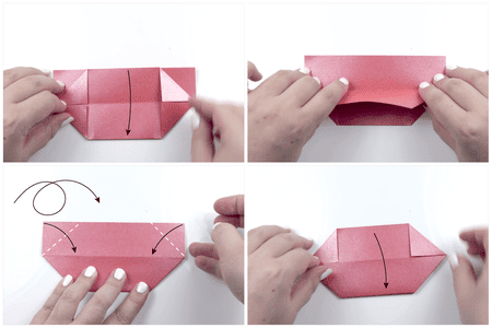 How to make a traditional origami lotus flower: page 22 | 300x450