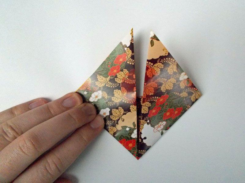 Origami paper corners up
