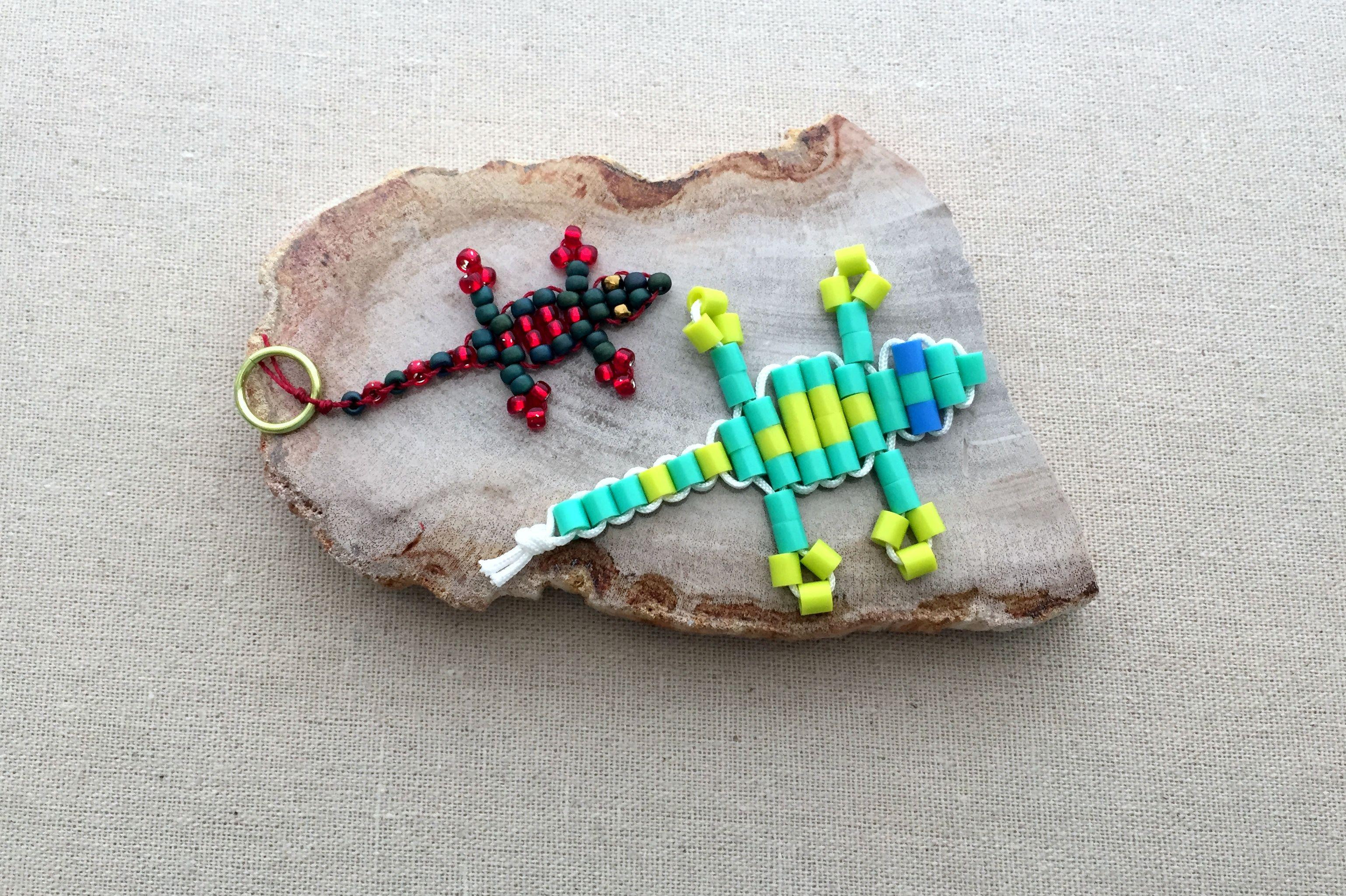 How to Make a Beaded Gecko Lizard Keychain ff5da624b223
