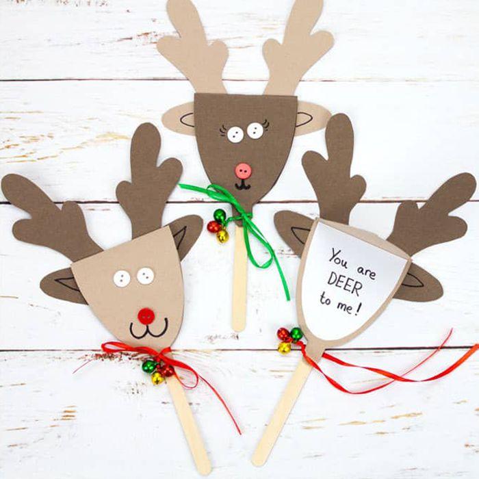 kids diy reindeer puppet christmas cards