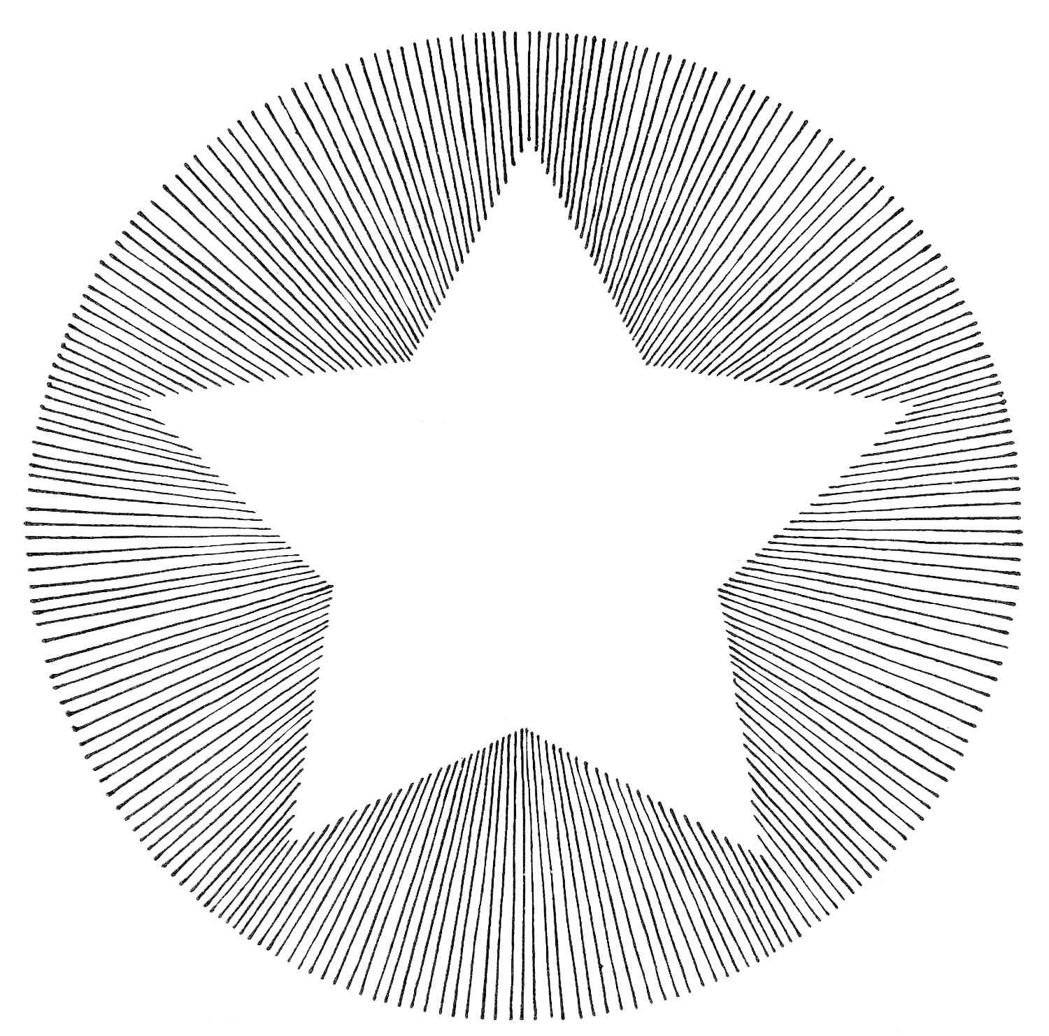 a black and white star