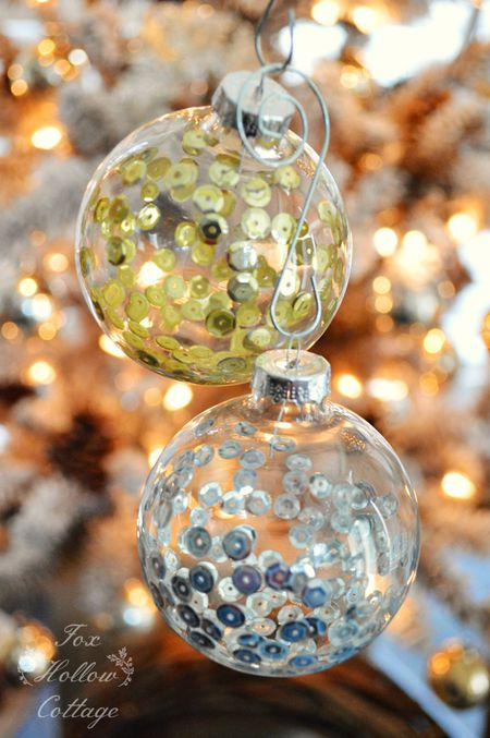 best loved 16702 c3423 10 Ways to Fill a Clear Glass Christmas Ornament