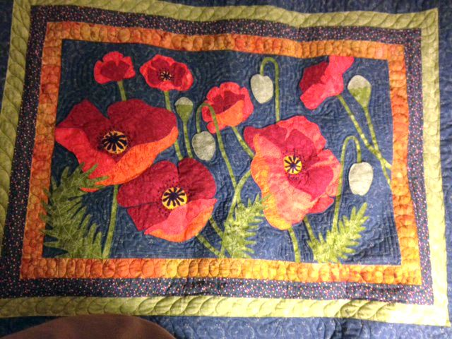 Poppies Landscape Quilt