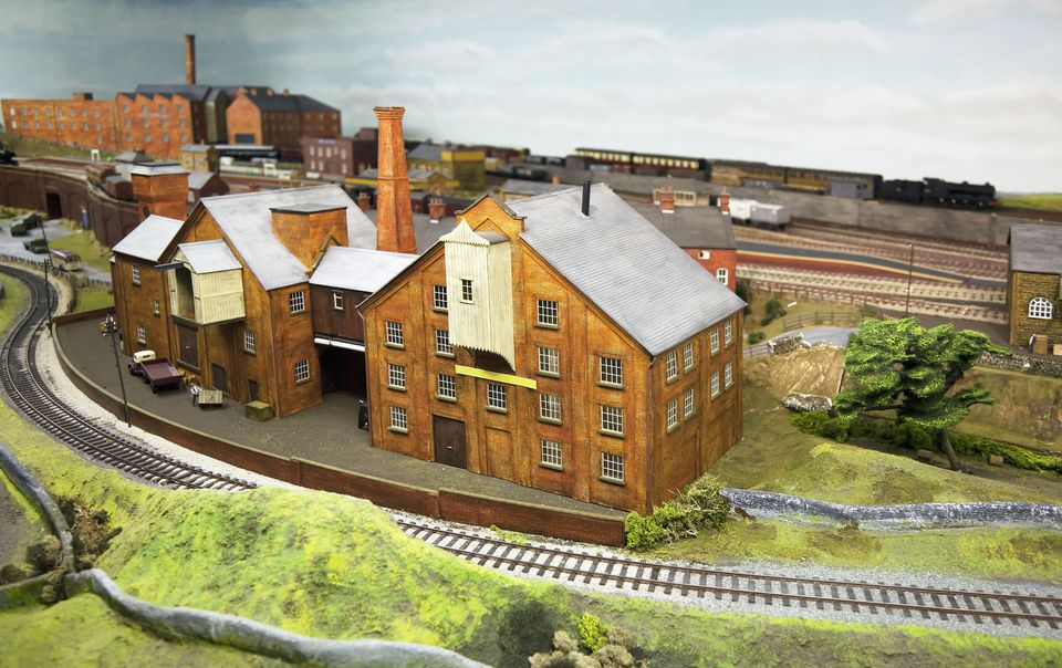 Model railway, warehouse
