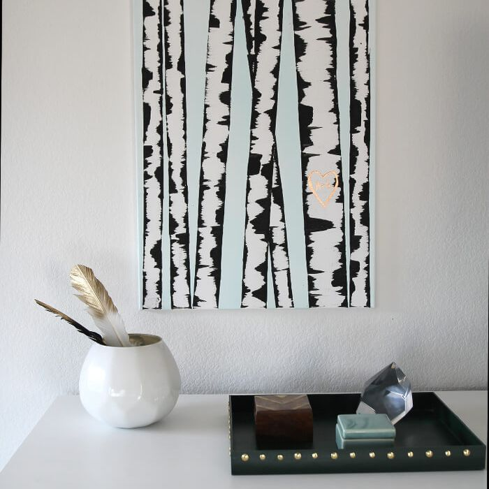 birch tree painting tutorial