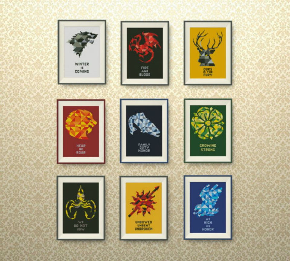 game of thrones cross stitch pattern