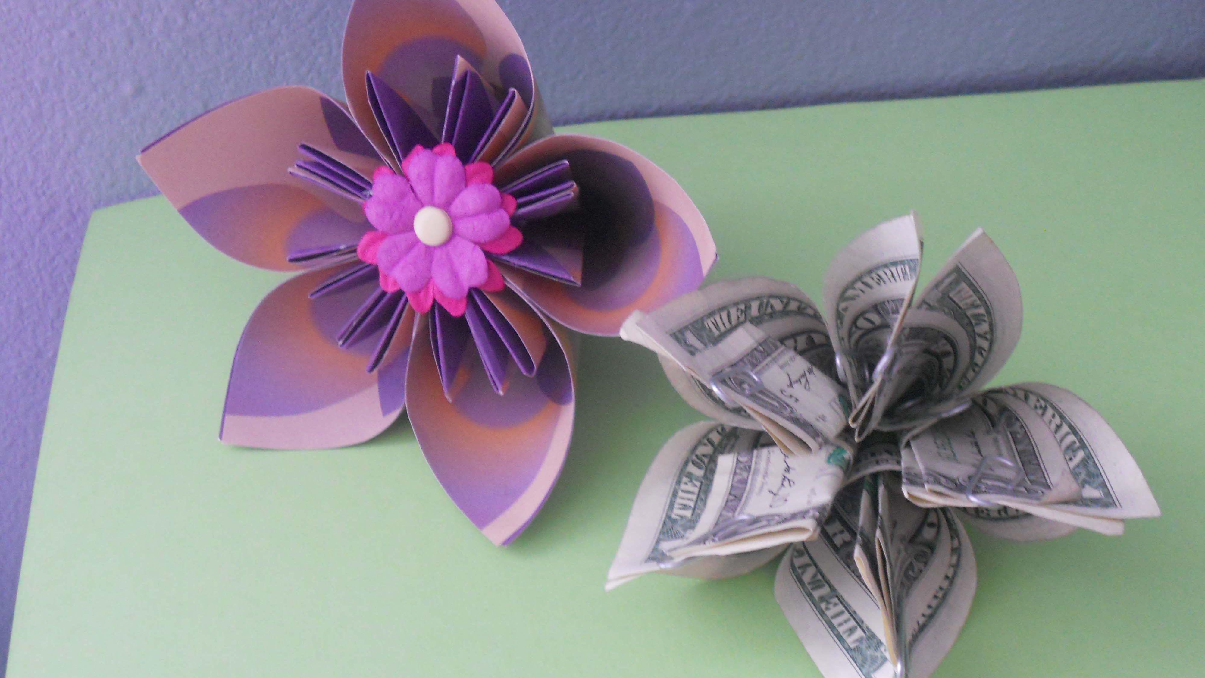 My kusudama flower bouquet I made! - YouTube | 2250x4000