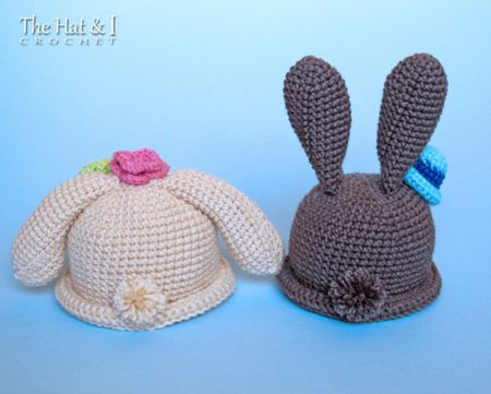 Adorable Bunny Hat Crochet Patterns for Easter a6e2a1e525ff