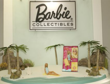 Barbie display at a toy show