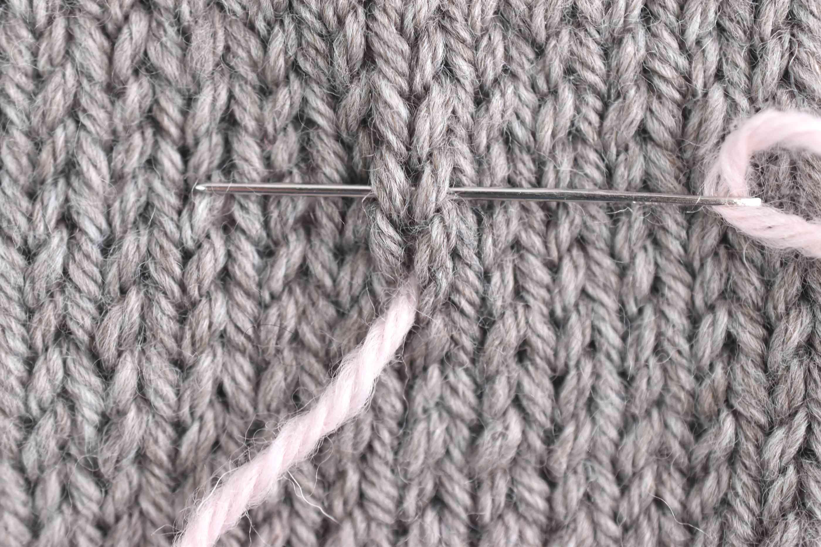 Starting the First Duplicate Stitch
