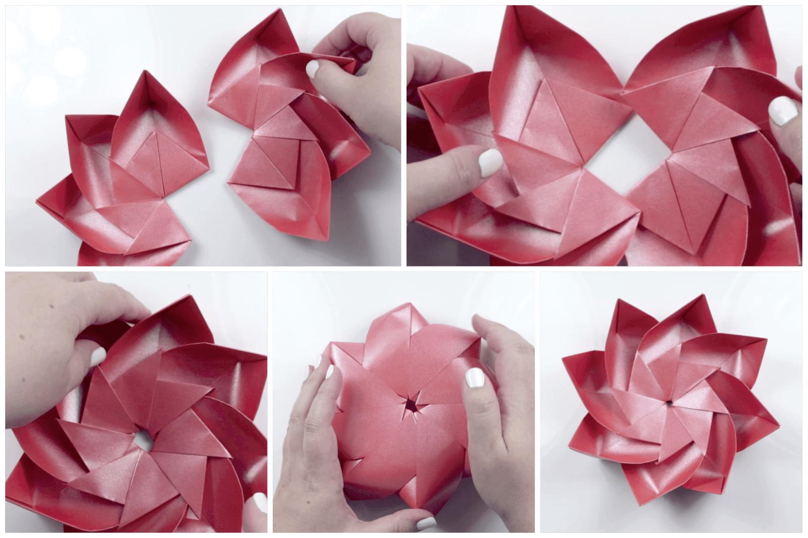 modular origami lotus 9