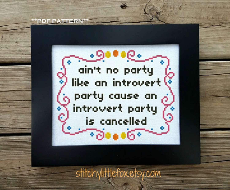 Ain't No Party cross stitch