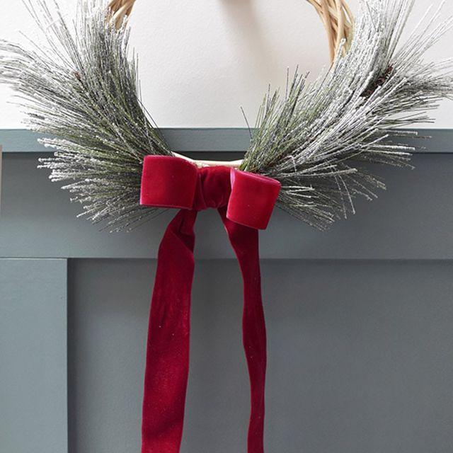 simple christmas wreath tutorial