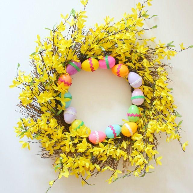 DIY Last Minute Easter Egg Wreath