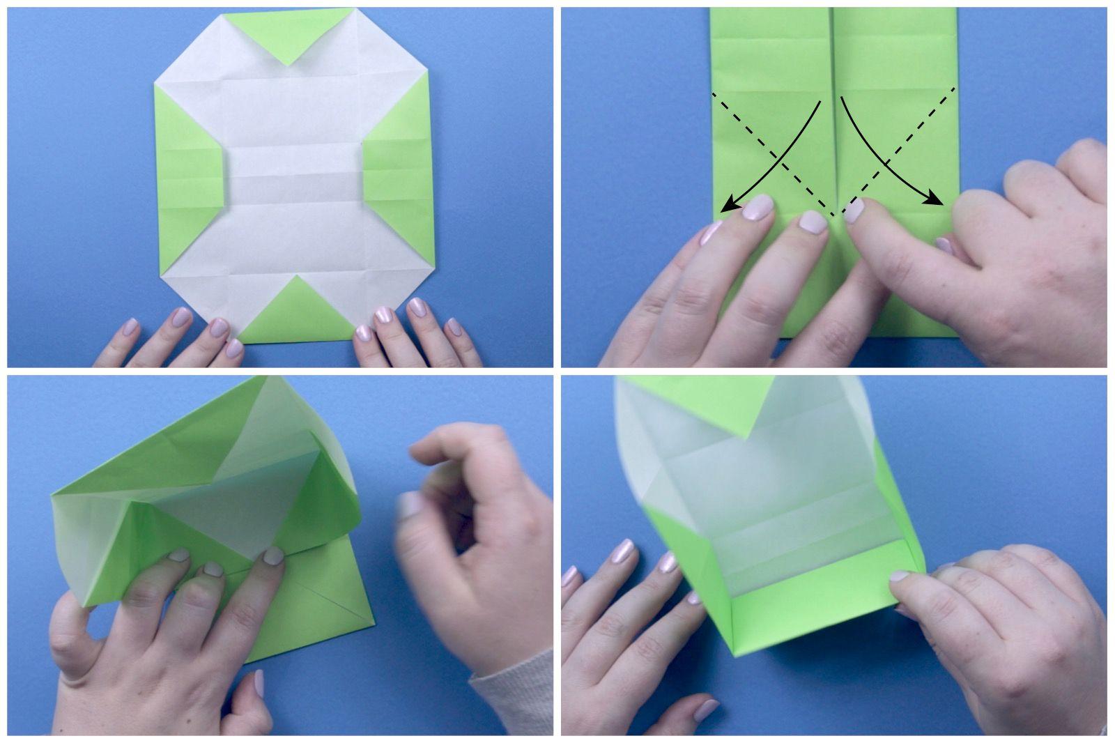 Origami Fortune Pouch - Cajita de la Fortuna - YouTube | 1066x1600