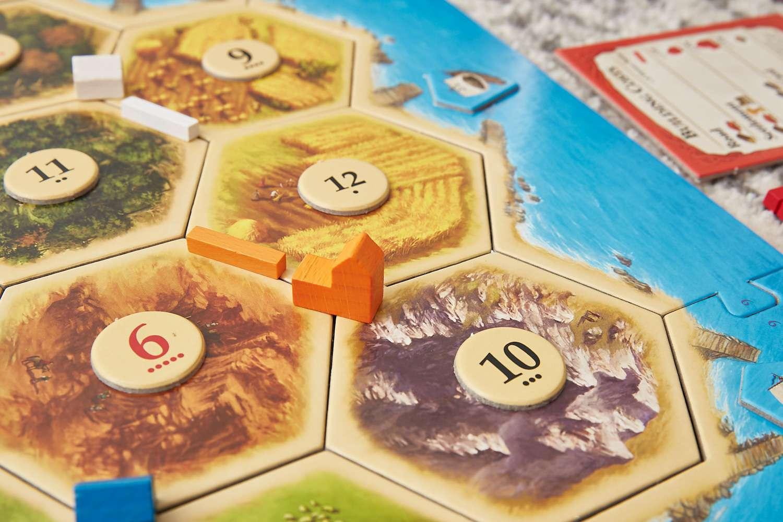 Catan board game cities