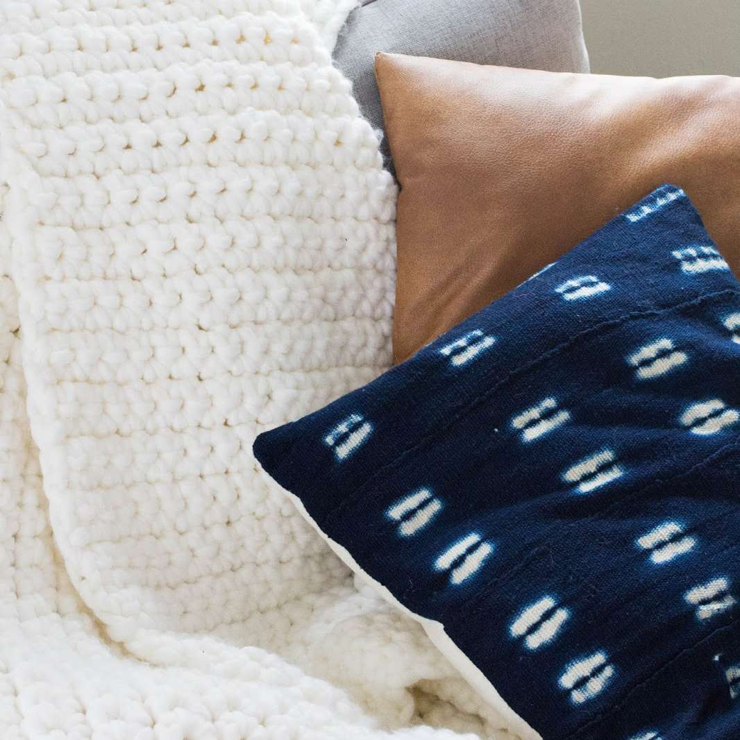 crochet chunky throw blanket