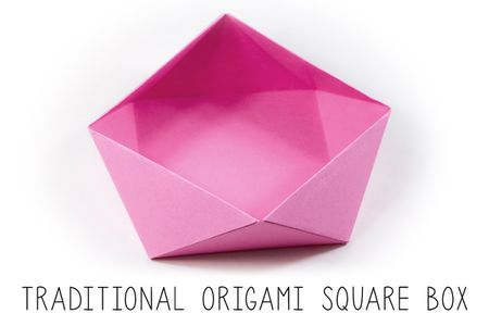 Traditional Origami Square Bowl Instructions