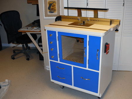 9 free diy router table plans you can use right now a blue router table keyboard keysfo Images