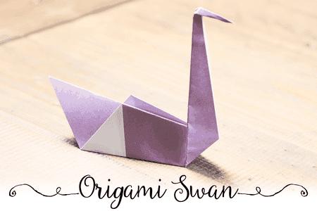 Easy Origami Swan Tutorial | 300x450