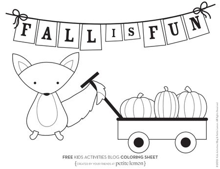 Kids Activities Blogs Fall Coloring Pages A Squirrel With Wagon Full Of Pumpkins