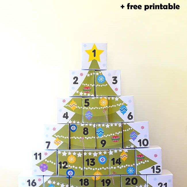 diy boxes advent calendar